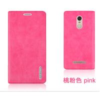 louiedennis 小米 红米note3手机保护皮套 外壳 翻盖式耐用后壳 红米 note3-桃粉色