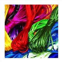 21个颜色随便选择 DIY手工材料 首饰配件 中国结线 手链编织绳 2.5mm 饰品绳 一根多种颜色 多彩中国结线 D