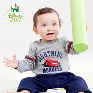 迪士尼Disney男童套装春装纯棉宝宝肩开扣包屁衣套装171T670