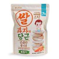艾唯倪ivenet 贝贝大米饼进口零食宝宝辅食胡萝卜味磨牙饼干30g