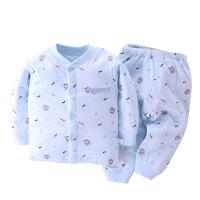婴儿薄棉衣套装春秋纯棉男女秋冬季夹棉新生儿衣服0-1岁宝宝棉袄