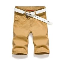 夏季休闲短裤男士五分裤青年修身中裤沙滩裤夏天5分裤薄短裤