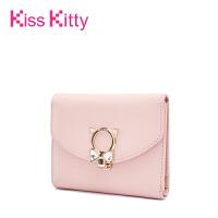 Kiss Kitty韩版小清新简约钱包女长短款可爱时尚二折学生钱夹卡夹