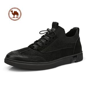 骆驼牌男鞋2018新款秋冬真皮英伦风皮鞋高帮男潮男士短靴子马丁靴