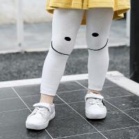 秋冬季新款童裤 韩版卡通笑脸中小童男女宝宝裤子九分打底裤