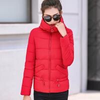 女短款韩版修身连帽棉袄冬羽绒棉加厚外套上衣