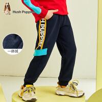 【2件5折价:166元】暇步士童装男童裤子冬装新款儿童加绒运动裤宝宝针织休闲长裤