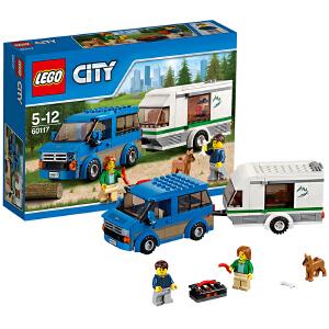 [当当自营]LEGO 乐高 城市系列 大篷车与露营车 积木拼插儿童益智玩具 60117