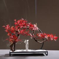 【优选】新中式仿真枫叶景观家居玄关软装饰品创意样板房室内家庭茶室摆件