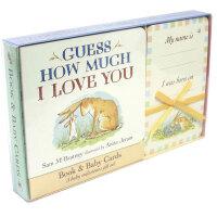 Guess How Much I Love You 猜猜我有多爱你:书与宝贝卡片礼盒装 英文儿童原版图书 纸板书