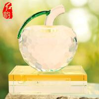 水晶苹果汽车香水座车载香水瓶车内摆件平安果平安夜创意车上饰品