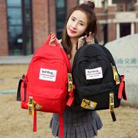 书包女韩版原宿ulzzang 高中学生背包校园百搭防水休闲个性双肩包