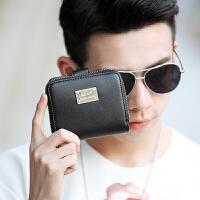 2018韩版新款男士短款钱包 潮流时尚折叠小钱包 休闲零钱包卡包