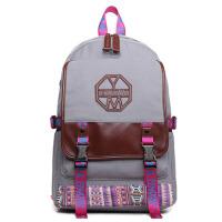 校园女士双肩包 学院初中学生书包 休闲旅行电脑背包