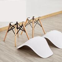 【支持礼品卡】餐椅塑料成人书桌凳子靠背椅子家用现代简约懒人实木伊姆斯椅p0y