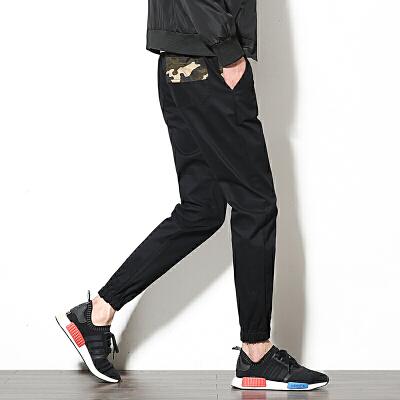 棉秋季新款休闲裤九分裤哈伦裤工装裤束脚裤K58303A
