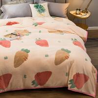 珊瑚绒毯子薄款夏季小毛毯被子夏天单人午睡毯加厚冬季法兰绒床单