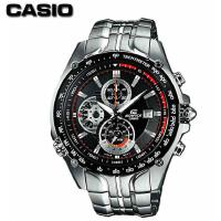 Casio卡西欧手表男 石英表 运动商务钢带日历防水男表EF-543D-1A