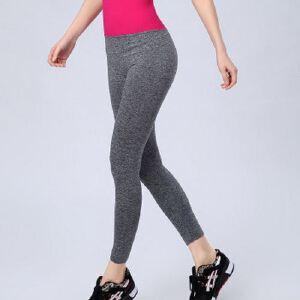 WA03女款运动弹力健身服跑步九分裤修身显瘦跳操紧身瑜伽裤