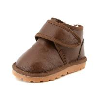 冬款儿童棉靴女童短靴男宝宝加厚雪地靴子婴儿学步靴鞋1-3-5岁