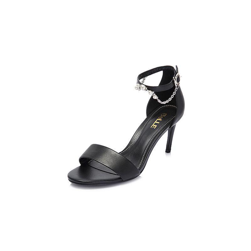 Belle/百丽2018夏季新款专柜同款牛皮革女凉鞋S5T1DBL8