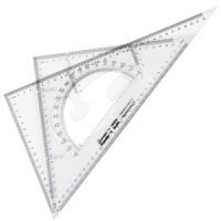 广博(GuangBo)2把装35CM直角三角尺子+等腰三角板含量角器文具CB5635