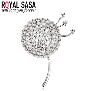 皇家莎莎韩版别针配饰气质领针女满钻胸针女 奢华胸花个性装饰品