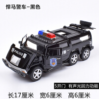合金仿真悍马警车儿童声光回力警车 吉普越野车儿童玩具汽车模型
