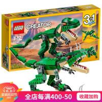 创意百变系列儿童男孩益智拼装积木玩具恐龙凶猛龙31058