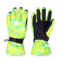 男女童手套 户外登山保暖厚防滑手套 冬季防水儿童滑雪手套