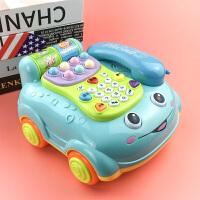 女孩男孩仿真打地鼠早教儿童益智电话玩具宝宝1-3岁婴儿音乐座机0