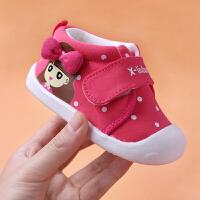 6-12个月宝宝软底鞋0-1岁半女宝宝婴儿单鞋春秋季棉布鞋子学步鞋