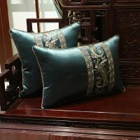 红木沙发坐垫新中式实木家具绣花坐垫新中式古典刺绣红木沙发坐垫中国风实木家具椅子海绵垫防滑定制套