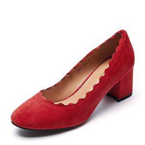 Belle/百丽春季专柜同款羊绒皮革女皮鞋BSS01AQ7