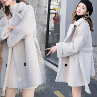 毛呢外套女中长款冬宽松仿呢子大衣女学生