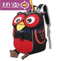 新款韩版宝宝儿童书包可爱卡通猫头鹰背包小班1-3岁男女孩幼儿园迷你小书包手提包