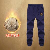 男童裤子冬季2018新款加绒加厚羊羔绒运动裤12-15岁大童休闲长裤