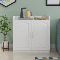 欧式餐边柜茶水柜简约现代客厅小柜子储物柜厨房收纳水桶柜碗橱柜 双门