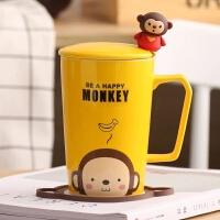 创意可爱杯子陶瓷杯马克杯卡通情侣杯牛奶杯咖啡杯茶杯水杯带盖勺