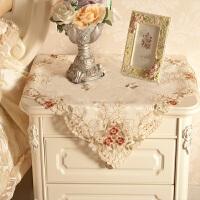 欧式工艺床头柜盖布 镂空剪花桌布 缇花小方巾 洗衣机盖布 茶几布 1898金盏小花