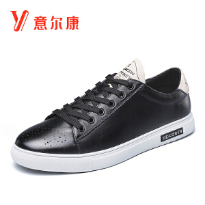 意尔康男鞋时尚男士单鞋男板鞋系带男士休闲鞋男鞋