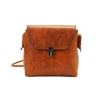 复古欧美时尚新款锁扣方包女包单肩包斜跨手提潮小包