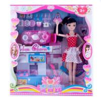 过家家玩具仿真女孩做饭煮饭芭比娃娃厨房宝宝厨具餐具套装 728 15厘米-30厘米