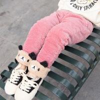 1宝宝冬季棉裤婴童加绒加厚灯芯绒裤子2岁小女童冬天加棉三层外裤