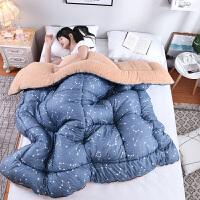纤维被冬天加厚仿羊羔绒被子双人冬被棉被单人保暖被芯冬季宿舍家用