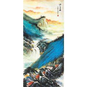 曾国权《江山多娇》著名山水画家