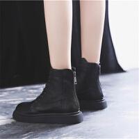 英伦风马丁靴女冬季2018新款女鞋百搭短筒靴子加绒短靴女春秋单靴