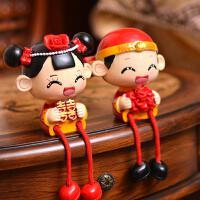宝诗顿创意装饰对一摆件婚房新娘新郎树脂婚庆礼品公仔礼物结婚情侣娃娃