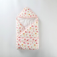英格贝贝2018春季新款新生儿抱被宝宝抱毯薄棉包被小棉被婴儿被子