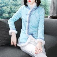 2018秋冬季女新款中国风民族风中式唐装外套棉衣汉服